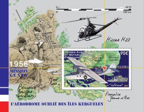 """Résultat de recherche d'images pour """"timbre avion : projet de piste d'atterrissage à Kerguelen"""""""